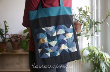 Sac tote bag avec motif en patchwork