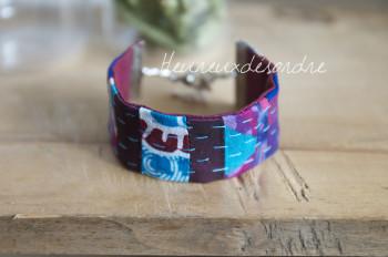 Bracelet en patchwork