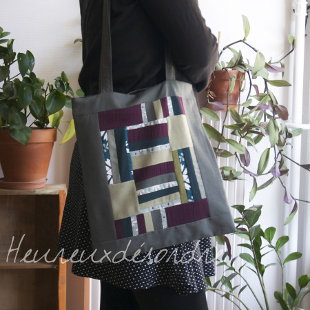 Sac tote bag en patchwork